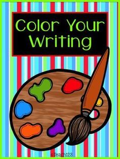 FREE Color Your Writing interactive printables