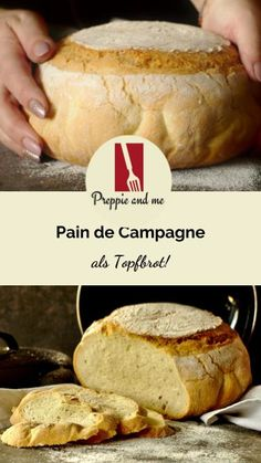 Pain de Campagne als Topfbrot, französisches Landbrot, Pain,. Pizza Recipes, Bread Recipes, Crockpot Recipes, Cake Recipes, Krups Prep Cook, Prep & Cook, Cheese Roll Recipe, Country Bread, Best Oven