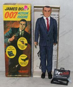 1965 Gilbert James Bond Sears Exclusive, Plaid Suit, Gun Case