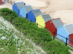 Mundesley Beach huts, Norfolk