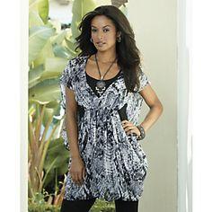 Amazon Print Cocoon Tunic from Midnight Velvet®