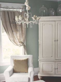love the paint color ..greyish green