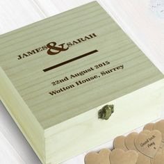 Personalised Wooden Wedding Guest Book Box