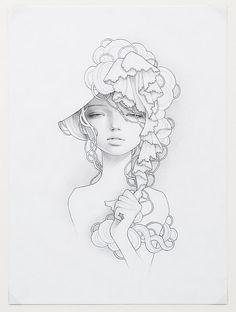 Audrey Kawasaki intaglio print