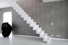 Modern Coriander white staircase