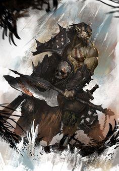 Orc illustration by Nookiew.deviantart.com on @deviantART