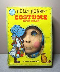 Vintage HOLLY HOBBIE Halloween Mask & COSTUME - Ben Cooper - EXCELLENT in BOX! | eBay
