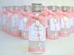 Baptism Favors Mini Bottle designed for Holy by FlyingLittleBirds