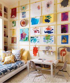 kids room DIY art table by The Estate of Things, via Flickr