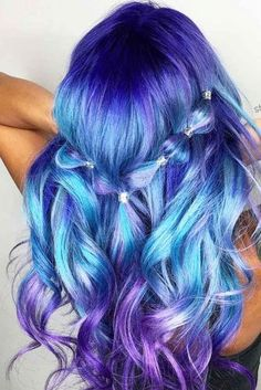 blue ombre hair color trend in trendy hairstyles and colors blue omb., blue ombre hair color trend in trendy hairstyles and colors blue omb. blue ombre hair color trend in trendy hairstyles and colors blue ombre hair; Cute Hair Colors, Pretty Hair Color, Bright Hair Colors, Hair Color Purple, Beautiful Hair Color, Hair Dye Colors, Colorful Hair, Brown Ombre Hair, Blue Ombre