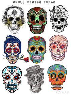 New tattoo designs skull day of the dead ideas – Mick – Art Mexican Skull Tattoos, Sugar Skull Tattoos, Mexican Skulls, Mexican Folk Art, Caveira Mexicana Tattoo, Tattoo Caveira, Calavera Tattoo, Art Plastique Halloween, Day Of The Dead Skull Tattoo