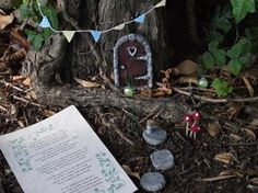 Hand Made Arched Fairy Garden Kit for Fairy Hobbit Pixie Elf with Stone. Door KitsStepping ... : door stepping - Pezcame.Com