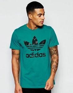 0e6fb059b759 adidas Originals - AJ6910 - T-shirt avec logo trèfle Mode En Ligne