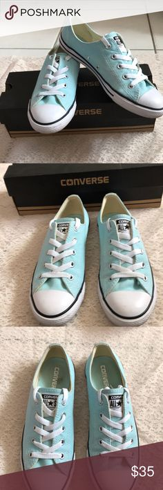 Light blue converse Light blue converse only worn a few times super good condition Converse Shoes Sneakers
