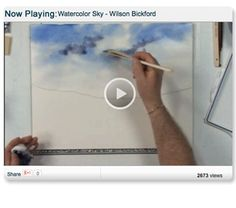Learn how to create a Beautiful Washed Sky Using Watercolors by Wilson Bickford