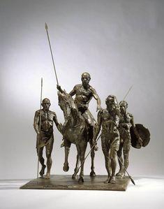 """""""Groupe de guerriers plaque I"""" 2009 99 x 75 x 69 cm"""
