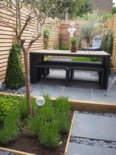 Outdoor Creations used our Blue Black Slate paving to create this modern garden design and outdoor dining area Outdoor Dining, Outdoor Decor, Dining Area, Small Back Gardens, Slate Paving, Slate Garden, Modern Garden Design, White Barn, Backyard