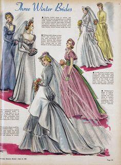 6 Beautiful Wedding Dress Trends in 2020 Wedding Dress Patterns, Wedding Dress Trends, Wedding Dresses, Vintage Dresses, Vintage Outfits, Vintage Fashion, Vintage Wardrobe, 40s Fashion, Vintage Clothing