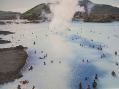 Blue Lagoon before Restoration of the place - rare picture of Iceland