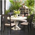 Paula Deen Home Round Dining Table w/ 4 Splat Back Dining Side Chairs by Paula Deen by Universal - Jacksonville Furniture Mart - Dining 5 Piece Set Jacksonville, Gainesville, Palm Coast, Fernandina Beach