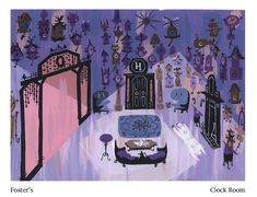 Clock Room concept art for Foster's Home for Imaginary Friends by Carol Wyatt