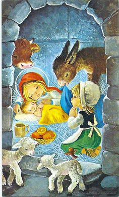 0744M - CONSTANZA - EDICIONES CYZ - SERIE 431.126.A - DIPTICA 12,5X7,5 CM - Foto 1 Christmas Decoupage, Christmas Cards, Christmas Decorations, Jesus Art, Christmas Characters, Christmas Nativity, Holy Night, Christmas Illustration, Mexican Style