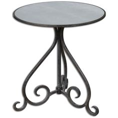 Uttermost Poloa Mirrored Accent Table 24380