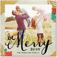Lighthearted Linen - Christmas Cards in Blaze or Bright Red | Hello Little One