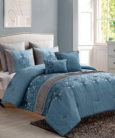 Another great find on #zulily! Grace Seven-Piece Comforter Set #zulilyfinds