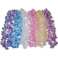 Collier Hawaii Fleurs en Tissu