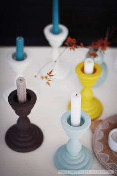 Fräulein Klein: Ikea Kerzenständer mit Acryllack besprühen