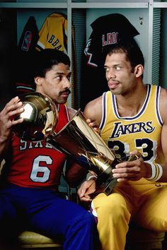 Click the image for Dr. Julius Erving and Kareem Abdul Jabbar. Kareem is fighting cancer now and we must keep him in our prayers. Basketball Playoffs, Basketball Legends, Nba Playoffs, Basketball History, Football, Basketball Pictures, Love And Basketball, Sports Basketball, Basketball Diaries