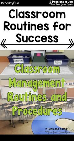 It is essential for teachers to establish effective routines, procedures and learning structures in their classrooms starting the first week of school. During our weekly #2ndaryELA Twitter chat teachers shared their most critical routines for a successful school year from the 2 Peas and a Dog blog.