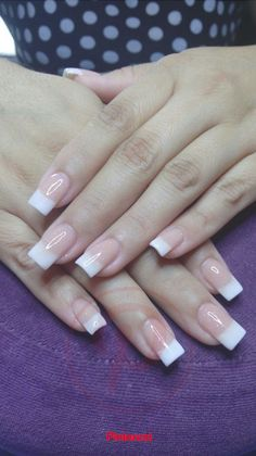 Discover latest Nail Fashion trends, Nails polish inspration, style and other ideas to try. Get updated with all nail design news and latest articles including celebrities, fashion, hot trends and much more! French Nails, French Manicure Nails, French Acrylic Nails, Square Acrylic Nails, Cute Acrylic Nails, Acrylic Nail Designs, Cute Nails, Pretty Nails, Nail Art Designs