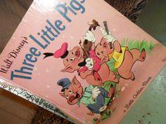Vintage Little Golden Books 1948 Walt Disneys Three Little Pigs