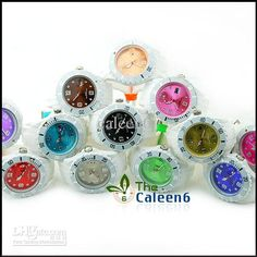 Wholesale - New Jelly Brand Silicone 2012 Hot Colorful Classical Watch With Date Free Shipping 10Ppc/lot 3070