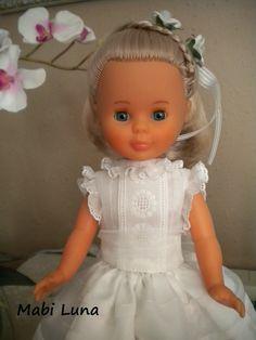 Mabi Luna: Vestido para muñeca de primera comunión (tutorial ...