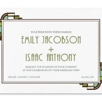 Art Deco Invitation    Frank Lloyd Wright Style