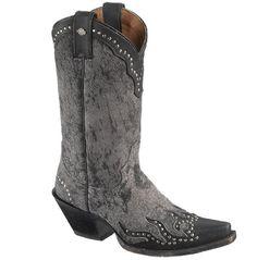 "Harley Davidson Women's Jessa 11"" Black Leather Studded Pull On Boots D83652"