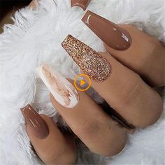 35 + 2019 Hot Fashion Sarg Nagel Trend Ideen 20 Trendy Coffin Nail Art Designs Get more photo , Marble Acrylic Nails, Fall Acrylic Nails, Acrylic Art, Fall Nail Art, Long Nail Designs, Acrylic Nail Designs, Art Designs, Design Ideas, Fingernail Designs