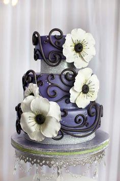 Anemone Wedding Cake