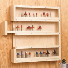 Router Bit Cabinet, Storage Woodworking Plan, Shop Project Plan | WOOD Store
