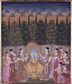 Krishna Dancing with Gopi. Walters Art Museum website / viewer.