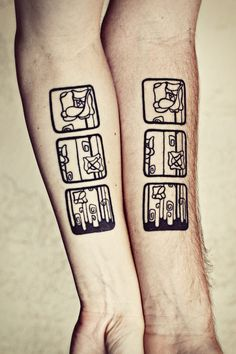 Tattoos on pinterest geometric tattoos tattoo and rose for Matching husband and wife tattoos