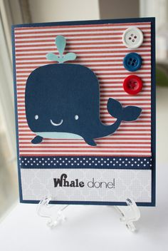 Whale Done  Handmade Greeting Card by SoCuteYoullPuke on Etsy, $3.50