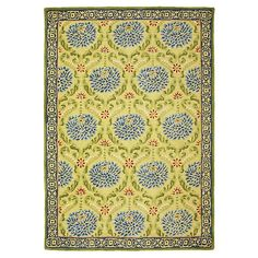 Zinnia Rug in Citron (border Pattern, Rug Sample) | Handmade Area Rugs from Company C