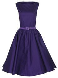 Purple Pin Up Style Dress
