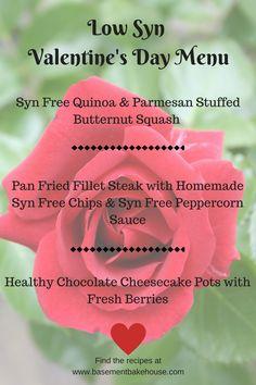 Syn Free - Valentine's Day - Menu - Recipe Ideas - Meal Ideas