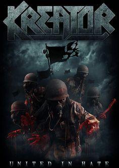 Kreator ~ United In Hate Heavy Metal Art, Nu Metal, Heavy Metal Bands, Black Metal, Rock And Roll Bands, Power Metal, Death Metal, Hard Rock, Rock Music