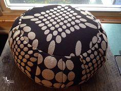 Meditation cushion zafu With handle  - Diamond in Sand  - Organic buckwheat hulls zafus pillow yoga